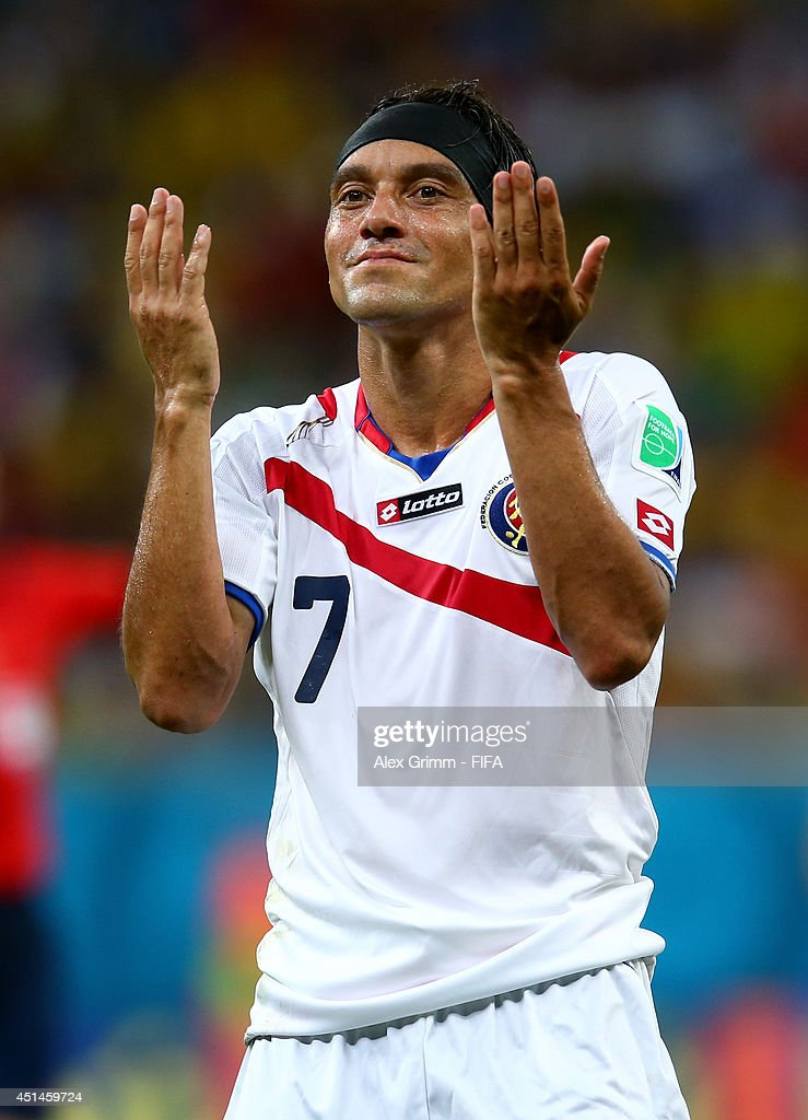 <a gi-track='captionPersonalityLinkClicked' href=/galleries/search?phrase=Christian+Bolanos&family=editorial&specificpeople=554945 ng-click='$event.stopPropagation()'>Christian Bolanos</a> of Costa Rica reacts during the 2014 FIFA World Cup Brazil Round of 16 match between Costa Rica and Greece at Arena Pernambuco on June 29, 2014 in Recife, Brazil.