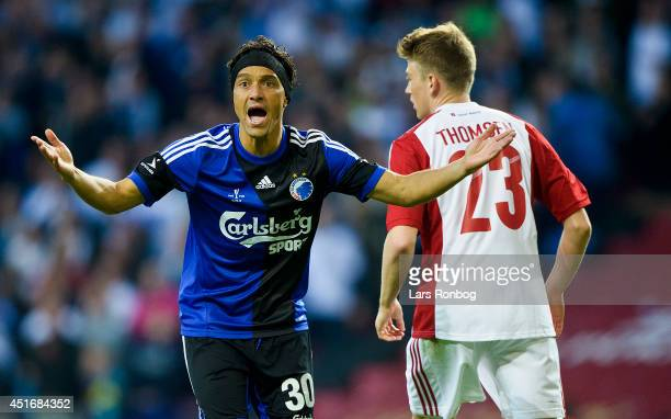 Christian Bolanos of FC Copenhagen shows frustration during the DBU Pokalen Cup Final match between AaB Aalborg and FC Copenhagen in Parken Stadium...