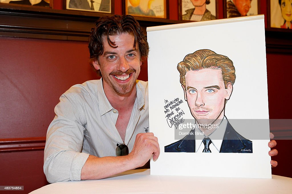 """Christian Borle Of Broadway's """"Something Rotten"""" Honored With Sardi's Caricature"""