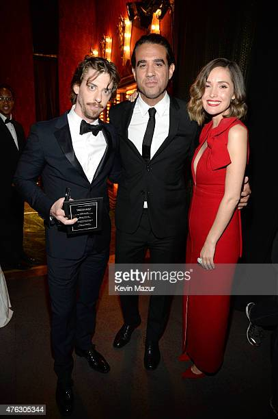 Christian Borle Bobby Canivale and Rose Byrne attend the 2015 Tony Awards at Radio City Music Hall on June 7 2015 in New York City