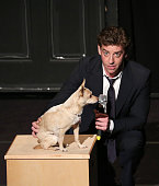 Christian Borle performing in 'Best in Shows' A benefit for the Humane Society of New York at New World Stages on November 9 2014 in New York City