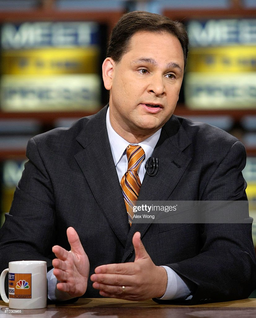 Christian Broadcasting Network Senior National Correspondent David Brody speaks during a taping of 'Meet the Press' at the NBC studios May 25, 2008 in Washington, DC. Brody discussed topics related to the presidential election in November, 2008.