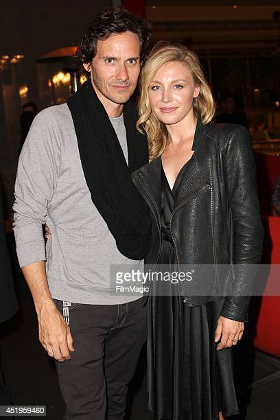 Christian Camargo and Juliet Rylance attend the New York Times/Film Independent Screening Of 'The Knick' at LACMA on July 9 2014 in Los Angeles...