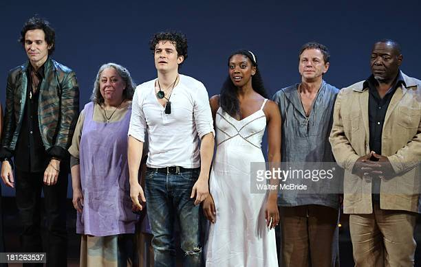 Christian Camargo Jayne Houdyshell Orlando Bloom Condola Rashad Brent Carver Chuck Cooper during the 'Romeo And Juliet' Broadway Opening Night...
