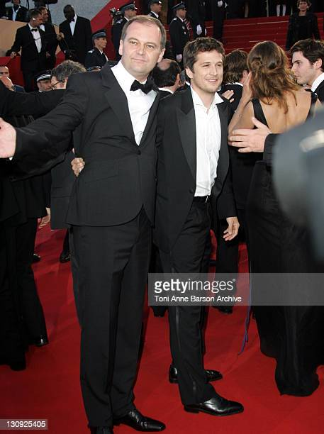 Christian Carion and Guillaume Canet during 2005 Cannes Film Festival 'Joyeaux Noel' Premiere at Palais de Festival in Cannes France