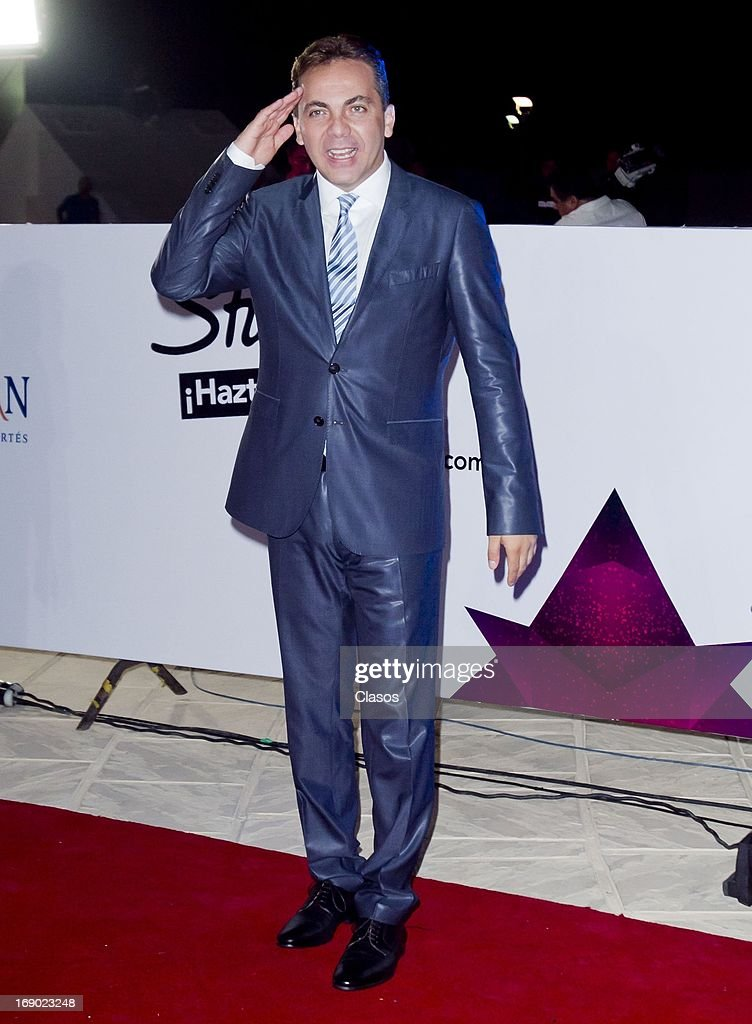 Christian Castro poses at the red carpet of the Premios Oye! on May 16, 2013 in Mazatlan, Mexico.