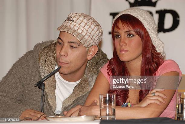 Christian Chavez and Dulce Maria of RBD during RBD Press Conference in Madrid January 8 2007 at Palace Hotel in Madrid Spain