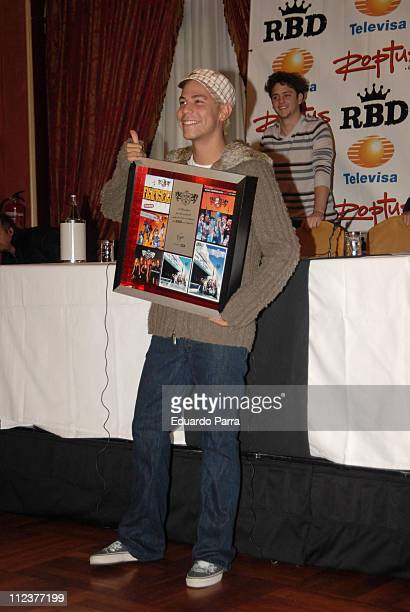Christian Chavez of RBD during RBD Press Conference in Madrid January 8 2007 at Palace Hotel in Madrid Spain