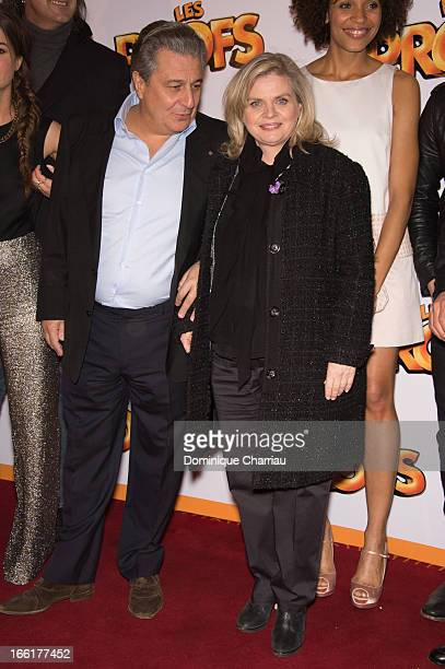 Christian Clavier and Isabelle Nanty attend the 'Les Profs' Premiere at Le Grand Rex on April 9 2013 in Paris France