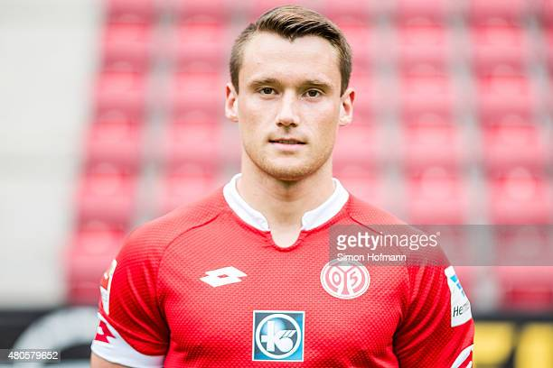 Christian Clemens poses during the 1 FSV Mainz 05 Team Presentation at Coface Arena on July 12 2015 in Mainz Germany