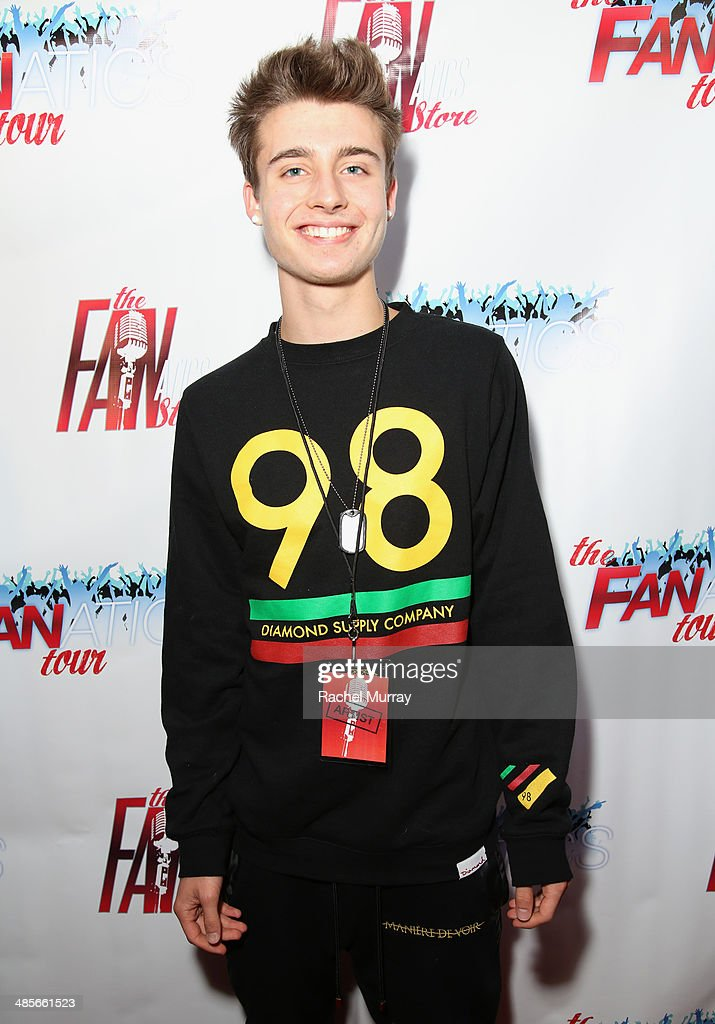 Christian Collins arrives at The Fanatics Tour L.A. Show at Infusion Lounge on April 19, 2014 in Universal City, California.