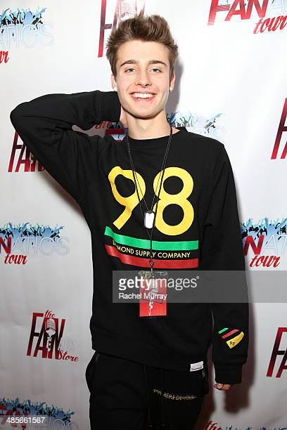 Christian Collins arrives at The Fanatics Tour LA Show at Infusion Lounge on April 19 2014 in Universal City California