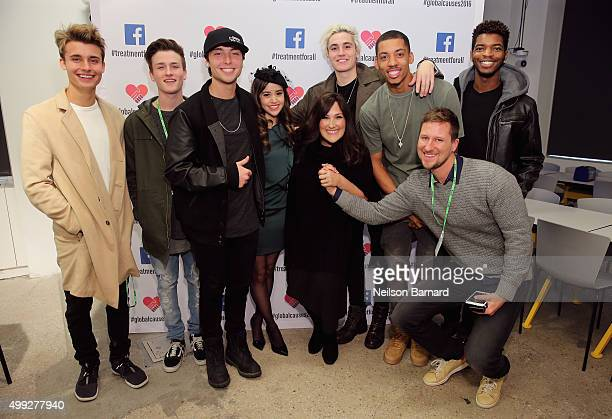 Christian Collins Crawford Collins Wesley Stromberg Megan Nicole Ricki Lake Sammy Wilkinson Melvin Gregg Bryan Moore and Kingsley attend the launch...