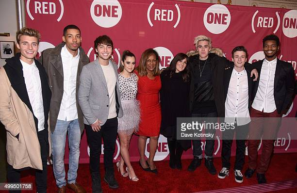 Christian Collins Melvin Gregg Wesley Stromberg Megan Nicole a guest Ricki Lake Sam Wilkinson Crawford Collins and Kingsley attend the ONE Campaign...