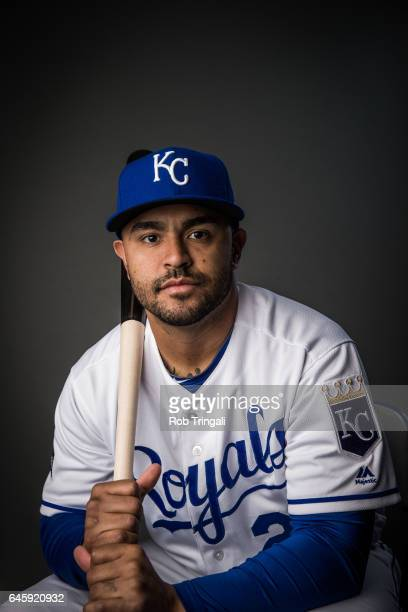 Christian Colon of the Kansas City Royals poses for a portrait at the Surprise Sports Complex on February 20 2017 in Surprise Arizona