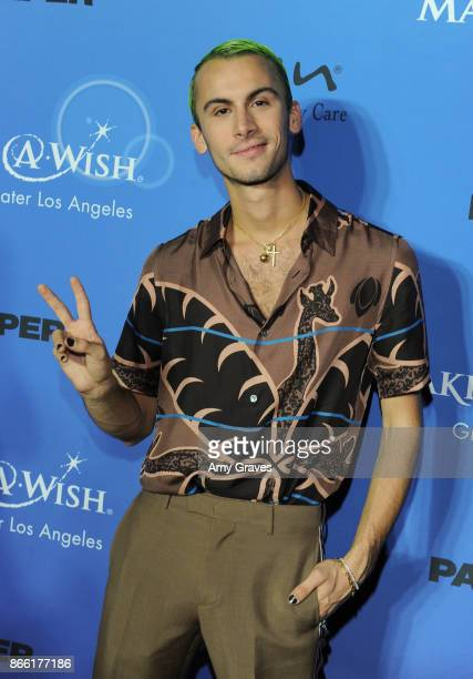 Christian Cowan attends the PAPER Magazine Runway Benefit For MakeAWish Foundation at The Taglyan Complex on October 24 2017 in Los Angeles California