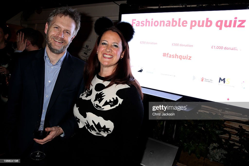 Christian Cull Vodafone UK director of corporate communications and Rebecca Ward attend the Vodafone Fashionable Pub Quiz at Shoreditch House on November 21, 2012 in London, United Kingdom. As Principal Sponsor of London Fashion Week, the quiz celebrated Vodafone's commitment to British Fashion.