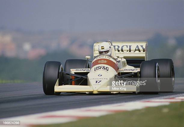 Christian Danner of Germany drives the Barclay Arrows BMW Arrows A9 BMW M12/13 L4T turbo during the Hungarian Grand Prix on 10th August 1986 at the...