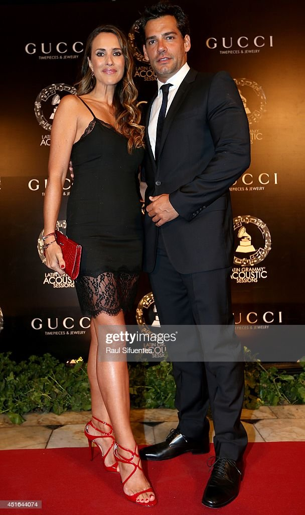 Christian de la Fuente and his wife attend the Latin GRAMMY Acoustic Session at Museo Pedro de Osma on July 2, 2014 in Lima, Peru.