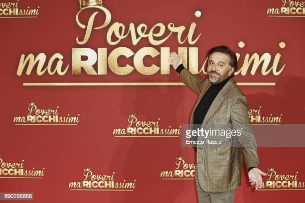 Christian De Sica attends 'Poveri Ma Ricchissimi' photocall on December 11 2017 in Rome Italy