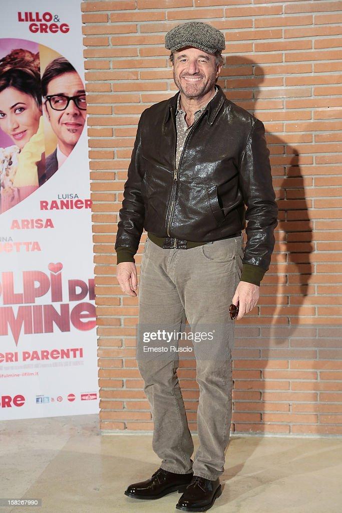 Christian De Sica attends the 'Colpi di Fulmine' photocall at Auditorium Parco Della Musica on December 12, 2012 in Rome, Italy.