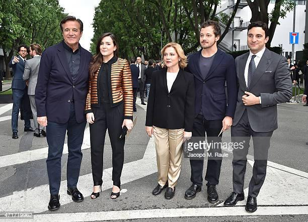 Christian De Sica Maria Rosa De Sica Silvia Verdone and Brando De Sica attend the Giorgio Armani 40th Anniversary Silos Openin Cocktail Reception on...