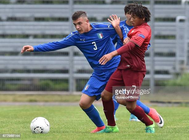 Christian Dimarco of Italy U15 and Bruno Tavares of Portugal U15 in action during the Torneo delle Nazioni match between Italy U15 and Portugal U15...