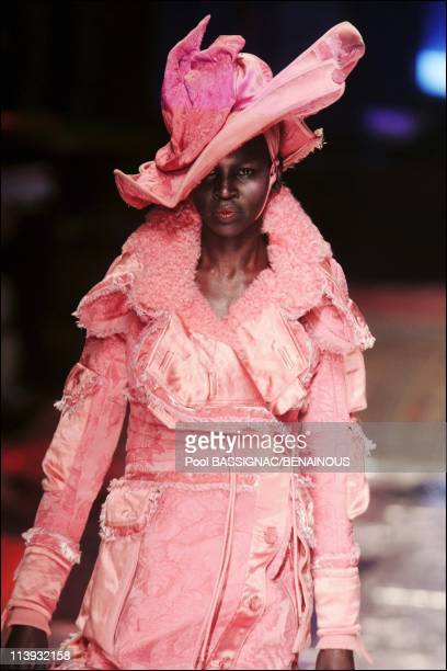 Christian Dior Haute Couture SpringSummer 2005 fashion show in Paris France On January 24 2005Alek Wek