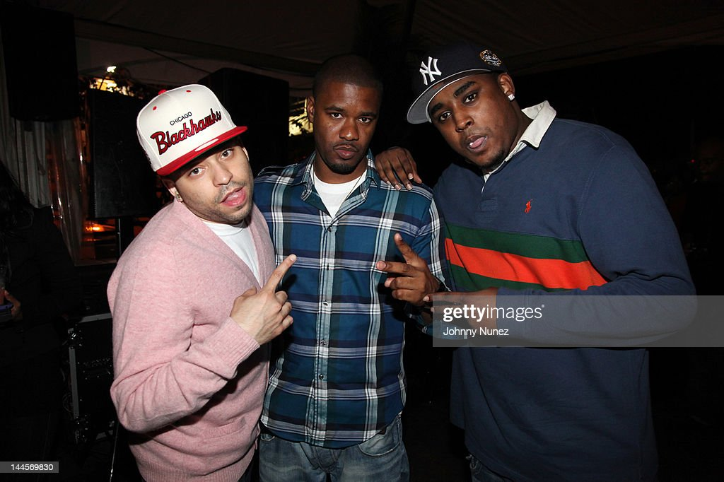 Christian D'or, Mills Miller, and Oun P. attend Hudson Cafe on May 15, 2012 in New York City.