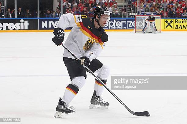 Christian Ehrhoff of Germany skates against Russia at Ice Palace on May 19 2016 in Moscow Russia
