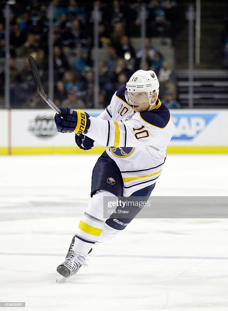 <a gi-track='captionPersonalityLinkClicked' href=/galleries/search?phrase=Christian+Ehrhoff&family=editorial&specificpeople=214788 ng-click='$event.stopPropagation()'>Christian Ehrhoff</a> #10 of the Buffalo Sabres in action against the San Jose Sharks at SAP Center on November 5, 2013 in San Jose, California.