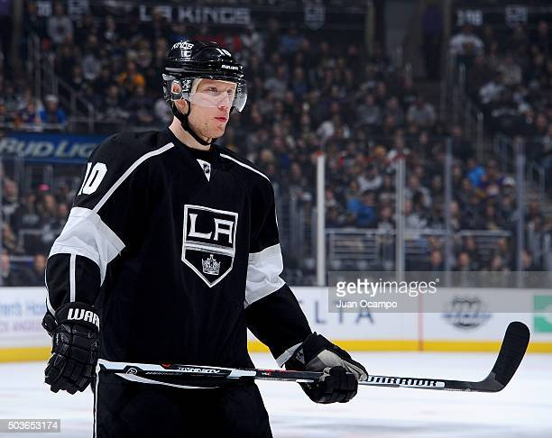 Christian Ehrhoff of the Los Angeles Kings looks on during the game against the Philadelphia Flyers on January 2 2016 at STAPLES Center in Los...