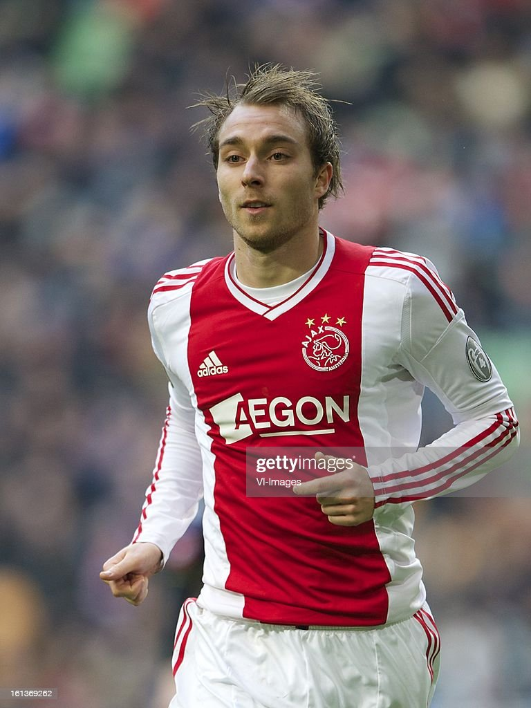 Christian Eriksen of Ajax during the Dutch Eredivisie match between Ajax Amsterdam and Roda JC Kerkrade at the Amsterdam Arena on february 10, 2013 in Amsterdam, The Netherlands