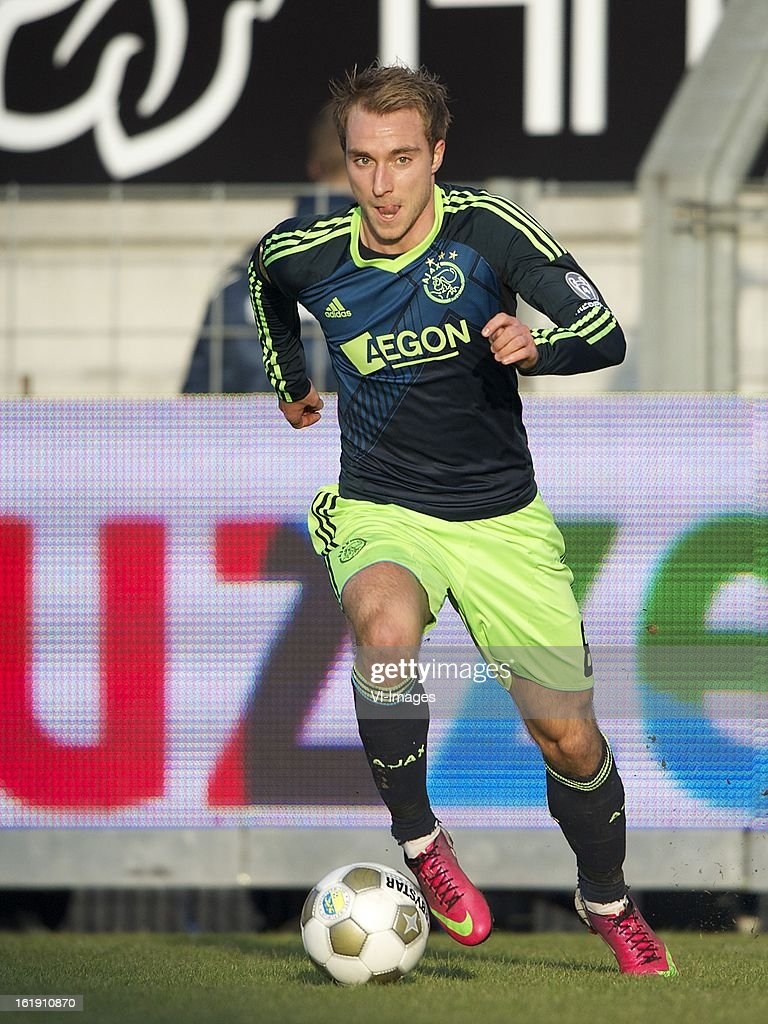 Christian Eriksen of Ajax during the Dutch Eredivisie match between RKC Waalwijk and Ajax Amsterdam at the Mandemakers Stadium on february 17, 2013 in Waalwijk, The Netherlands