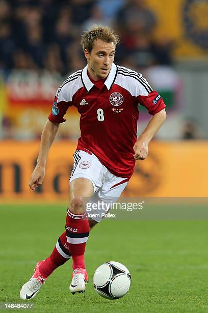 L'VIV UKRAINE JUNE 17 Christian Eriksen of Denmark in action during the UEFA EURO 2012 group B match between Denmark and Germany at Arena Lviv on...