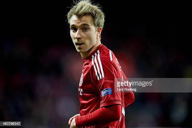 Christian Eriksen of Denmark looks on during the International Friendly match between Denmark and France at Telia Parken Stadium on October 11 2015...