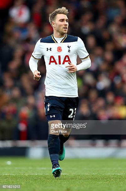 Christian Eriksen of Tottenham Hotspur during the Premier League match between Arsenal and Tottenham Hotspur at Emirates Stadium on November 6 2016...