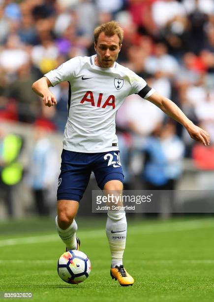Christian Eriksen of Tottenham Hotspur FC during the Premier League match between Tottenham Hotspur and Chelsea at Wembley Stadium on August 20 2017...