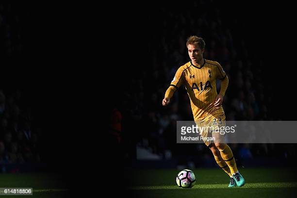 Christian Eriksen of Tottenham Hotspur in action during the Premier League match between West Bromwich Albion and Tottenham Hotspur at The Hawthorns...