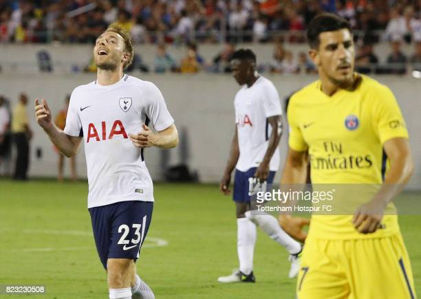 Christian Eriksen of Tottenham Hotspurs in action against Paris SaintGermain during a International Champions Cup 2017 game at Camping World Stadium...
