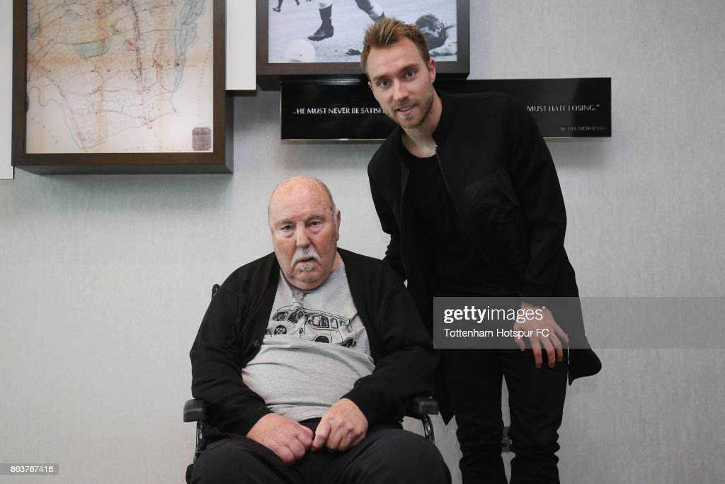 Harry Kane and Christian Eriksen Meet Spurs Legend Jimmy Greaves
