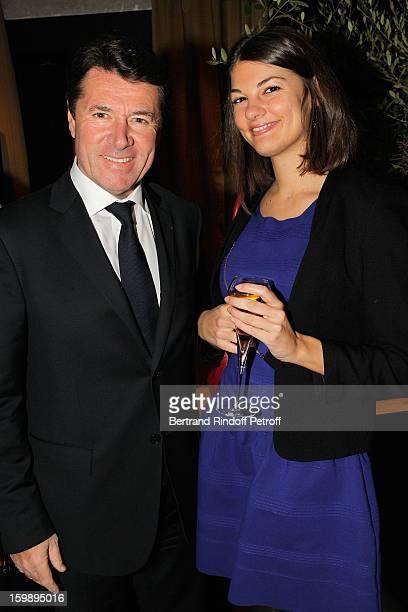 Christian Estrosi and his daughter Laetitia attend 'La Petite Maison De Nicole' Inauguration Cocktail at Hotel Fouquet's Barriere on January 22 2013...