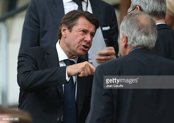Christian Estrosi attends the UEFA Euro 2016 Group B match between England and Russia at Stade Velodrome on June 11 2016 in Marseille France