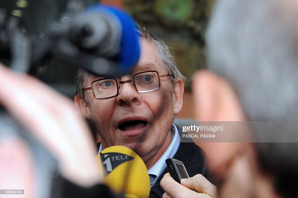 Christian Etelin, the lawyer of the sister of French extremist gunman Mohamed Merah, Souad, speaks to journalists on December 19, 2012 outside police headquarters in the southwestern city of Toulouse after the arrival of his client to be auditionned on claims she made while taped without her knowledge in a documentary of French television channel M6 about her brother, saying she was 'proud' of his acts. Merah, a self-described Al-Qaeda sympathizer, shot a rabbi, three Jewish schoolchildren and three French paratroopers before being shot dead in March by police in Toulouse. The police probe is trying to establish whether Souad Merah breached French legislation that prevents individuals from publicly defending terrorist acts.