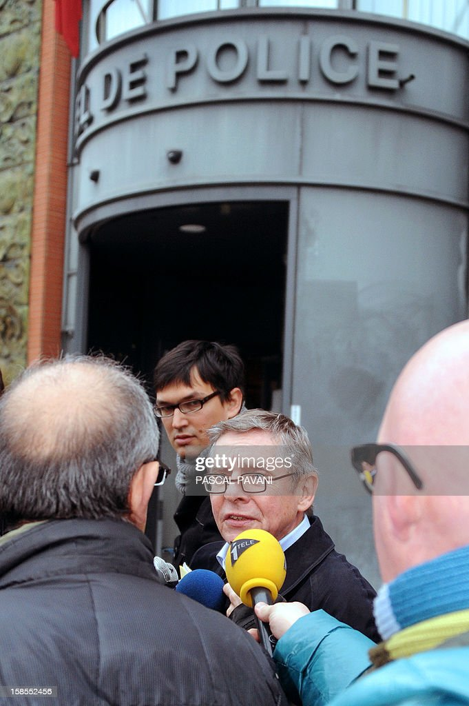 Christian Etelin (C) , the lawyer of the sister of French extremist gunman Mohamed Merah, Souad, speaks to journalists on December 19, 2012 outside police headquarters in the southwestern city of Toulouse after the arrival of his client to be auditionned on claims she made while taped without her knowledge in a documentary of French television channel M6 about her brother, saying she was 'proud' of his acts. Merah, a self-described Al-Qaeda sympathizer, shot a rabbi, three Jewish schoolchildren and three French paratroopers before being shot dead in March by police in Toulouse. The police probe is trying to establish whether Souad Merah breached French legislation that prevents individuals from publicly defending terrorist acts.