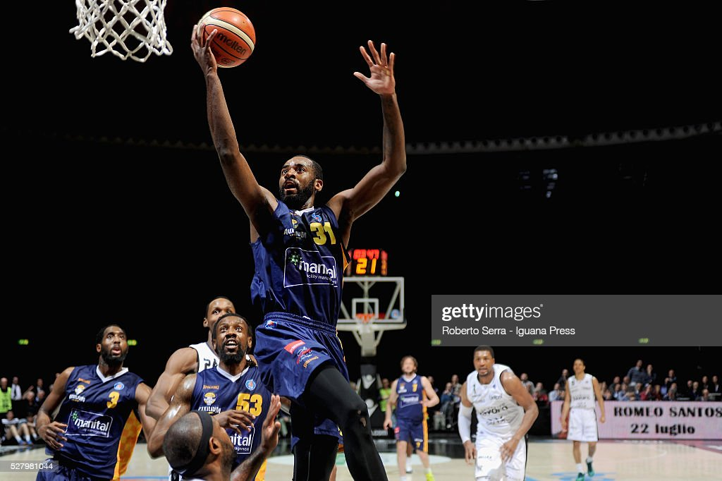 Christian Eyenga of Manital in action during the LegaBasket match between Virtus Obiettivo Lavoro Bologna v Auxilium Manital Torino at Unipol Arena...