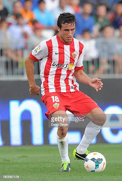 Christian Fernandez of UD Almeria in action during the La Liga match between UD Almeria and FC Barcelona on September 28 2013 in Almeria Spain