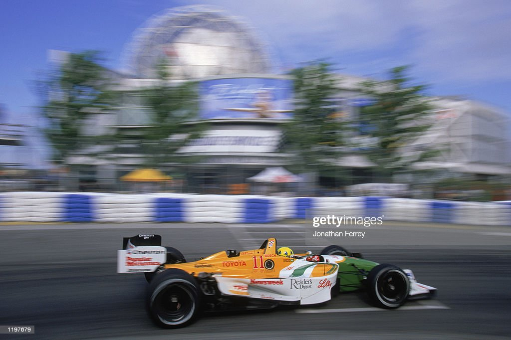 Christian Fittipaldi #11 drives his Newman Haas Racing Toyota Lola during the Molson Indy Vancouver, round 10 of the CART FedEx Championship Series on July 28, 2002 at the Concord Pacific Place in Vancouver, Canada.