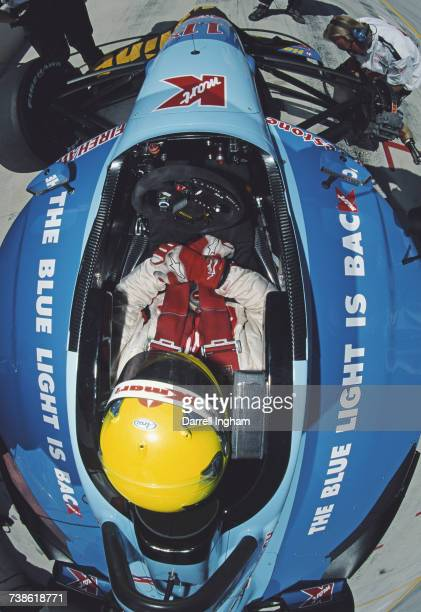 Christian Fittipaldi of Brazil sits aboard the Newman/Haas Racing Lola B01/00 Toyota RV8F during practice for the Championship Auto Racing Teams 2001...