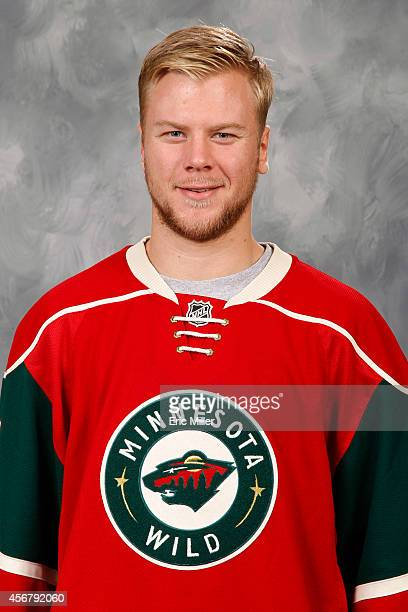 Christian Folin of the Minnesota Wild poses for his official headshot for the 20142015 season on September 18 2014 at the Xcel Energy Center in St...